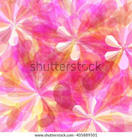 abstract flowers texture - stock vector