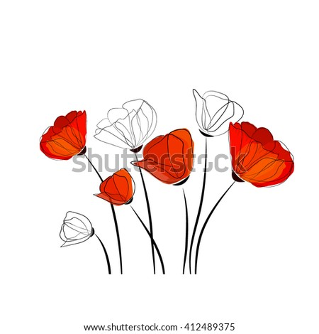 abstract flowers. Vector - stock vector