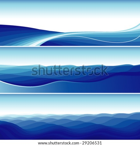abstract flowing wave - stock vector