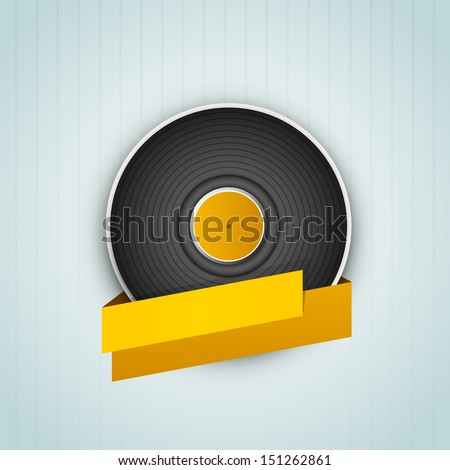 Abstract flyer, banner or poster with illustration of vinyl.  - stock vector