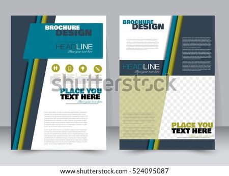 Abstract Flyer Design Background Brochure Template Stock Vector - Flyer brochure templates