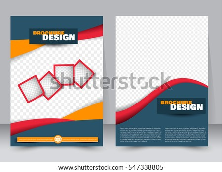 Flyer Template Brochure Set Annual Report Stock Vector 649834399 ...