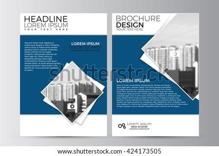 Abstract flyer design background. Brochure template. Can be used for magazine cover, business mockup, education, presentation, report. a4 size with editable elements. EPS 10 - stock vector