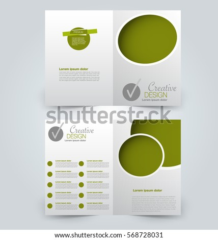 Abstract flyer design background. Brochure template. Can be used for magazine cover, business mockup, education, presentation, report.  Green color.