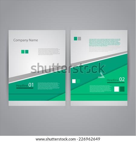 Abstract Flyer design template. - stock vector