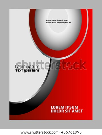 Abstract Flyer or Cover Design  - stock vector