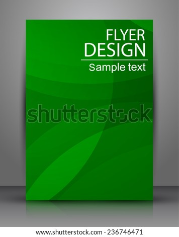 Abstract Flyer or Cover Design. A4 - stock vector