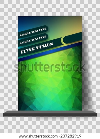 Abstract Flyer Template, Magazine Cover - stock vector