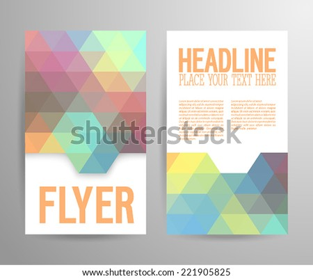 Abstract flyer template with place for text. Vector illustration. - stock vector