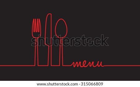 abstract food menu background - stock vector
