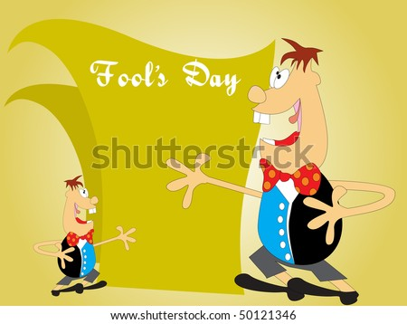 abstract fools day background, vector wallpaper