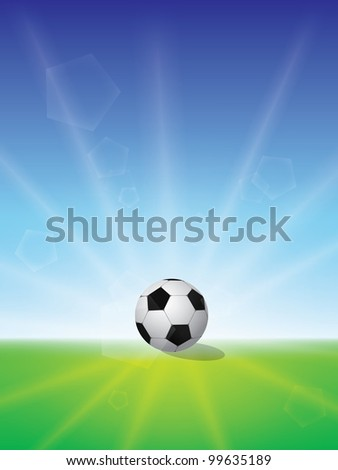 Abstract football art color colorful sunrise - stock vector