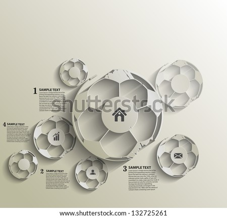 abstract  footballs Infographics design, vector - stock vector