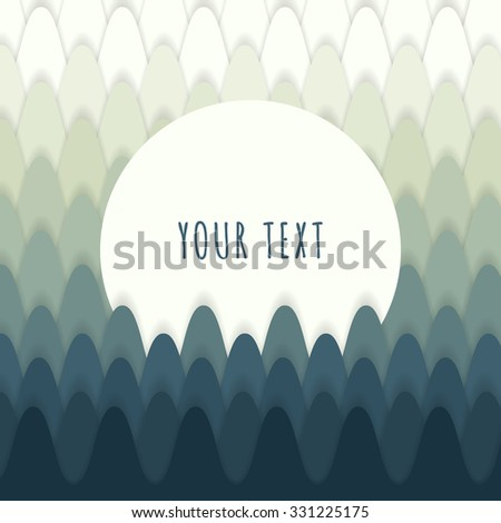 Abstract forest design with text box for your content vector stock eps 10 illustration - stock vector