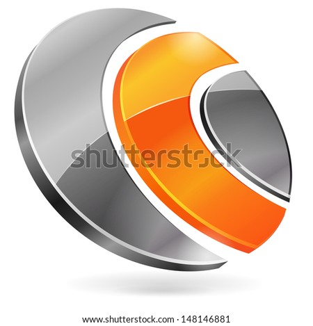 Abstract form 3d - stock vector