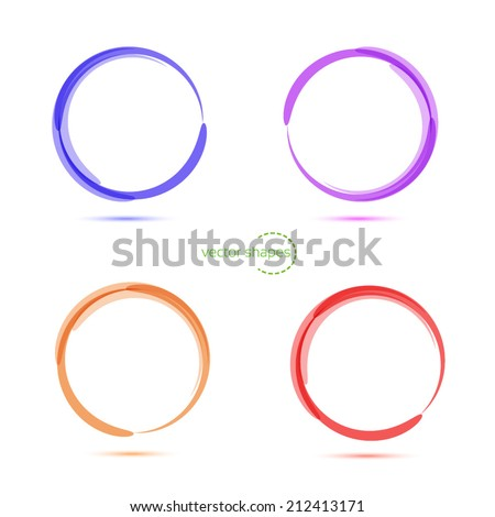 Abstract four technology circles. Vector illustration. - stock vector