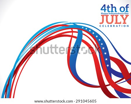 abstract fourth july celebration background vector illustration - stock vector