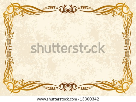 Abstract frame. - stock vector