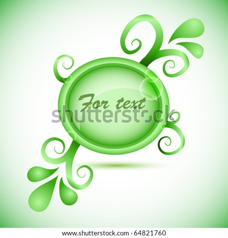 Abstract frame (bubble speach with floral elements) - stock vector