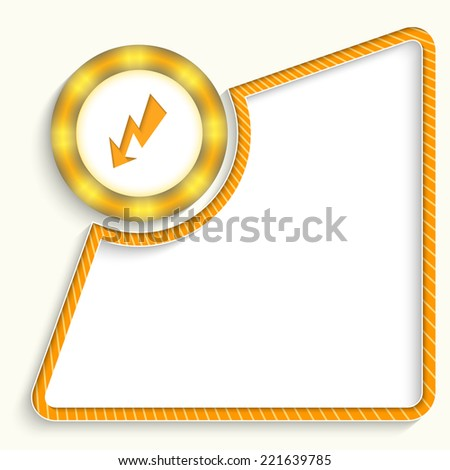 abstract frame for any text with flash - stock vector