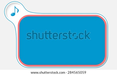 Abstract frame for your text and music symbol - stock vector
