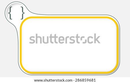 Abstract frame for your text and square brackets - stock vector
