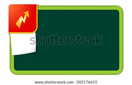 Abstract frame for your text with red corner and flash symbol - stock vector