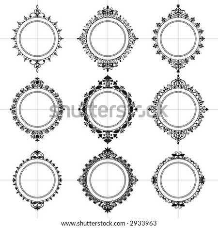 Abstract Frame - Various - stock vector