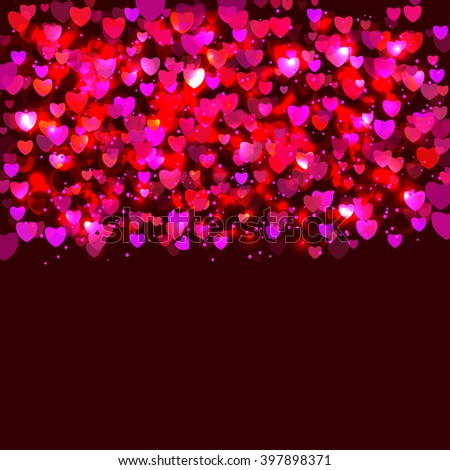 Abstract frame with hearts - stock vector