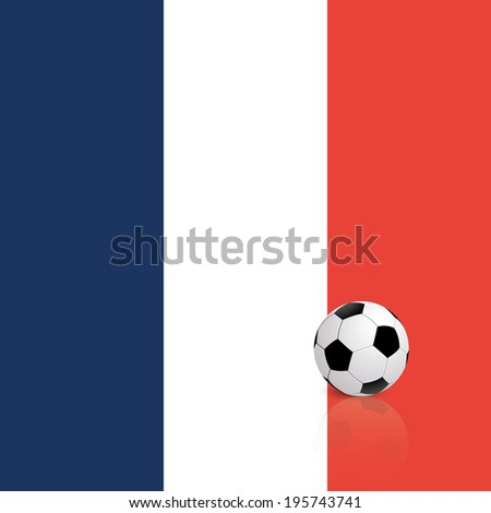 abstract France flag with a soccer ball
