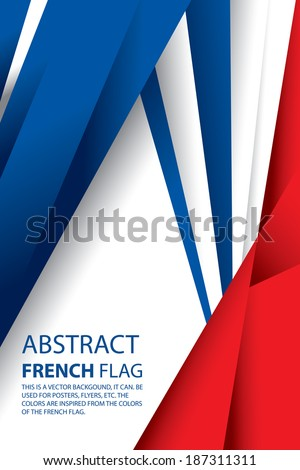 Abstract France, French Flag (vector Art) - stock vector