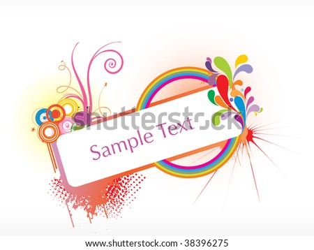 abstract funky vector background for text