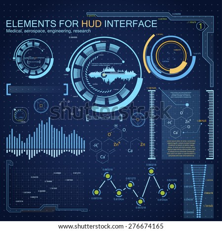 Abstract future, concept vector futuristic blue virtual graphic touch user interface HUD. Connection structure. Vector science background.  Futuristic HUD background. - stock vector