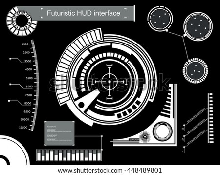 Abstract future, concept vector futuristic touch user interface HUD. For web virtual graphic, mobile applications isolated on background, techno, online design, business, gui, ui, kit.