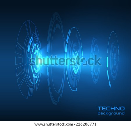 Abstract futuristic background. Vector eps10. - stock vector