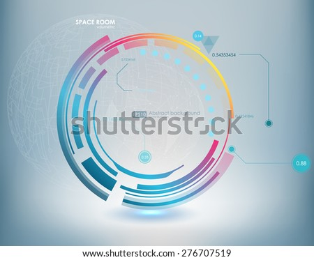 Abstract Futuristic blue virtual graphic touch interface HUD. Connection structure. Vector science background. Abstract blue background. Vector illustration. - stock vector