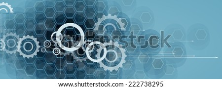 abstract futuristic circuit computer internet technology board business dark background - stock vector