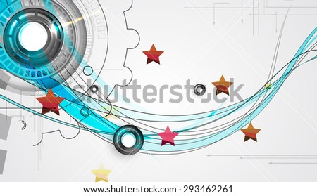 abstract futuristic circuit high computer technology business background