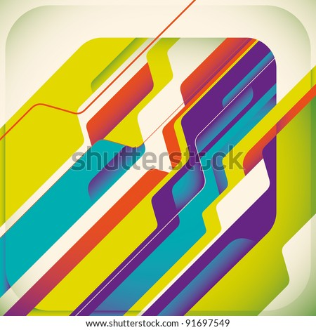 Abstract futuristic concept. Vector illustration. - stock vector