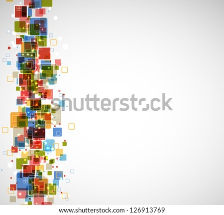 abstract futuristic cube computer technology business background - stock vector