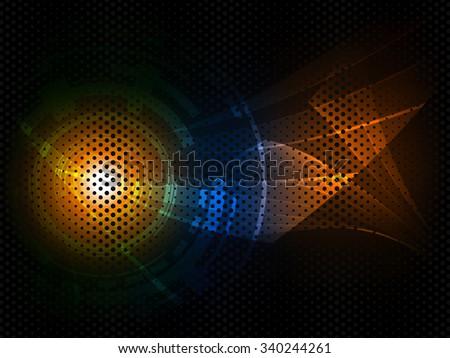 Abstract futuristic digital technology background. Vector illustration