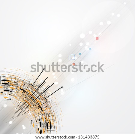 abstract futuristic fade computer technology business background - stock vector