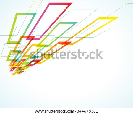 abstract futuristic geometric background. multicolored geometric shapes - stock vector