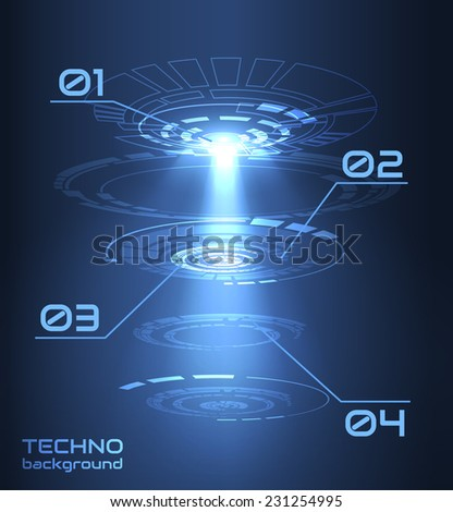 Abstract futuristic hud background. Technology background. Vector eps10 - stock vector