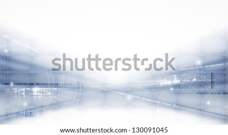 abstract futuristic light technology business banner background - stock vector