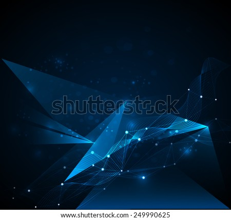 Abstract futuristic - Molecules technology background. Illustration Vector design digital  technology concept - stock vector