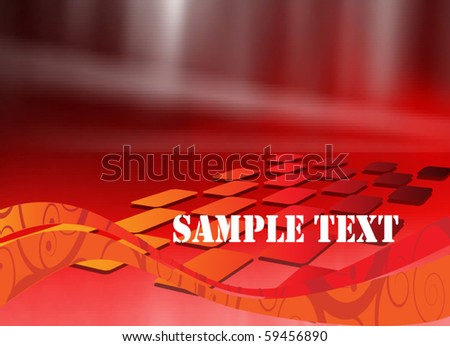 Abstract Futuristic Poster - stock vector