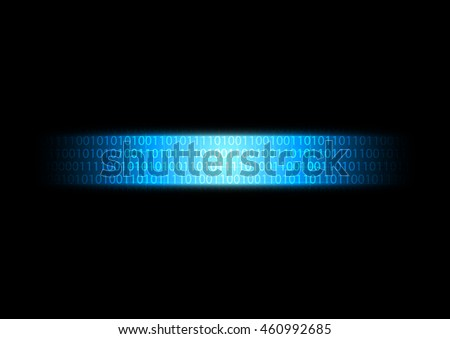 Abstract futuristic technology background with binary digital data transference, vector illustration - stock vector