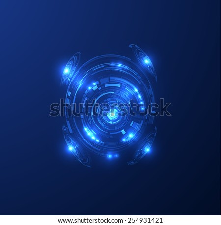 Abstract futuristic technology shiny background. Vector eps10. - stock vector