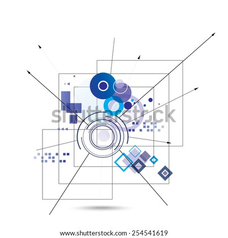 Abstract  futuristic technology style card. Vector illustration - stock vector